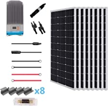 Renogy 800 Watt 12 Volt Solar Premium Kit with 60A MPPT Charge Controller/Solar Cable/Solar Fuse Mounting/Z Brackets for RV, Boat