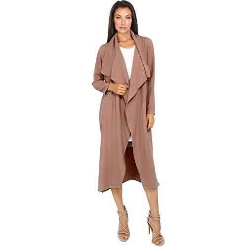 Women's Clothing Clothing, Shoes & Accessories Lower Price with Womens Duster Wrap Over Pocket Trench Coat Cardigan Ladies Blazer Belted Jacket