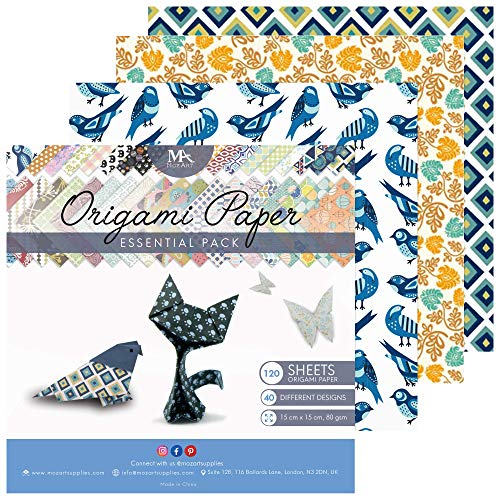 Origami Paper Set - 120 Sheets - Traditional Japanese Folding Papers including...