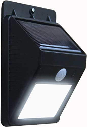 Fashion Zone Set of 2 pcs Ever Brite Solar Power LED Light Outdoor Motion Activated Sensor for Home Garden Balcony Main Door and Other Outdoor Areas