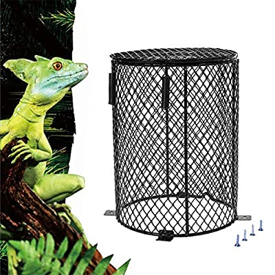 Reptile Heating Lamp Guard Ceramic Infrared Heat Bulb Lampshade Amphibians Heater Light Anti-hot Cage for Lizard Turtle Snake Birds by Lucky Farm