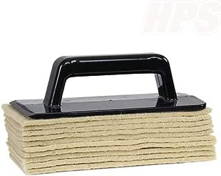 HPS© - Soft-Sheep, Handpadhalter Pro - SetParkett-Nachölen inkl. 10x Schafwollpad - Bodenbeläge einpflegen polieren. Parkett nachölen zb mit Kährs Satin Öl, Woca Pflegeöl, Greenwood GlemUp Oil