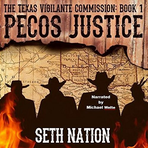 Pecos Justice audiobook cover art