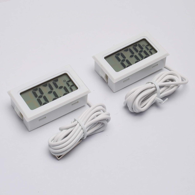 DEVMO 2PCS Digital LCD Mesa Mall Thermometer Gauge wi Temperature Aquarium New sales