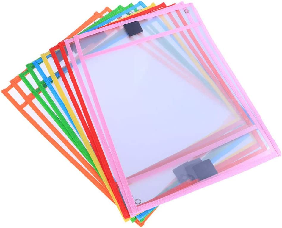 NUOBESTY Dry Erase Pockets Sheet Prot Sleeves Bargain sale Reusable Courier shipping free