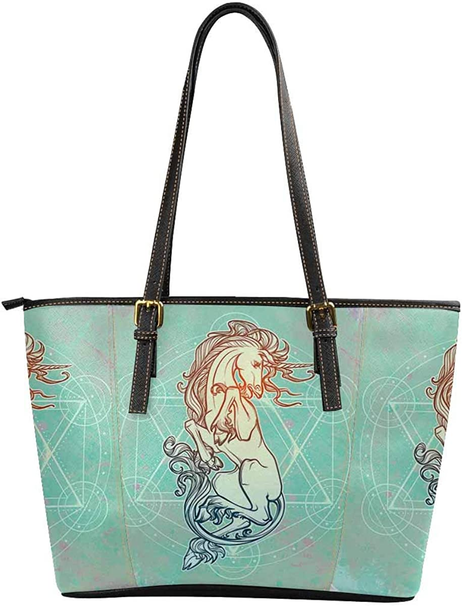 Funny Novelty Printed Women's Leather Handbags Shoulder Tote