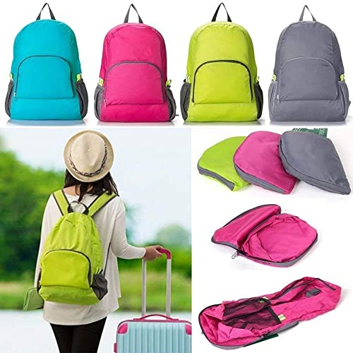 Travel Folding Capacity Mountaineering Outdoor Backpack Travel Bags Folding Bag Large Capacity MULTI COLORED