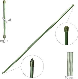 Tutor Varilla Bambú Plastificado Ø 12-14 Mm. X 150 Cm. (Paquete 10 Unidades)