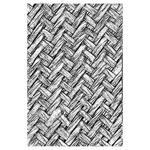 Sizzix Prägeschablone 3 D Texture Fades 664759 Intertwine von Tim Holtz One Size