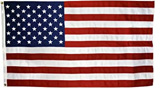US Flag 4 x 6 ft: 100% American Made - Cotton - Embroidered Stars and Sewn Stripes