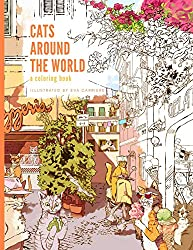 cats around the world coloring book by eva carriere