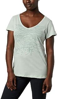 Women's Hidden Lake V Neck Tee Shirt, Cotton Blend,...