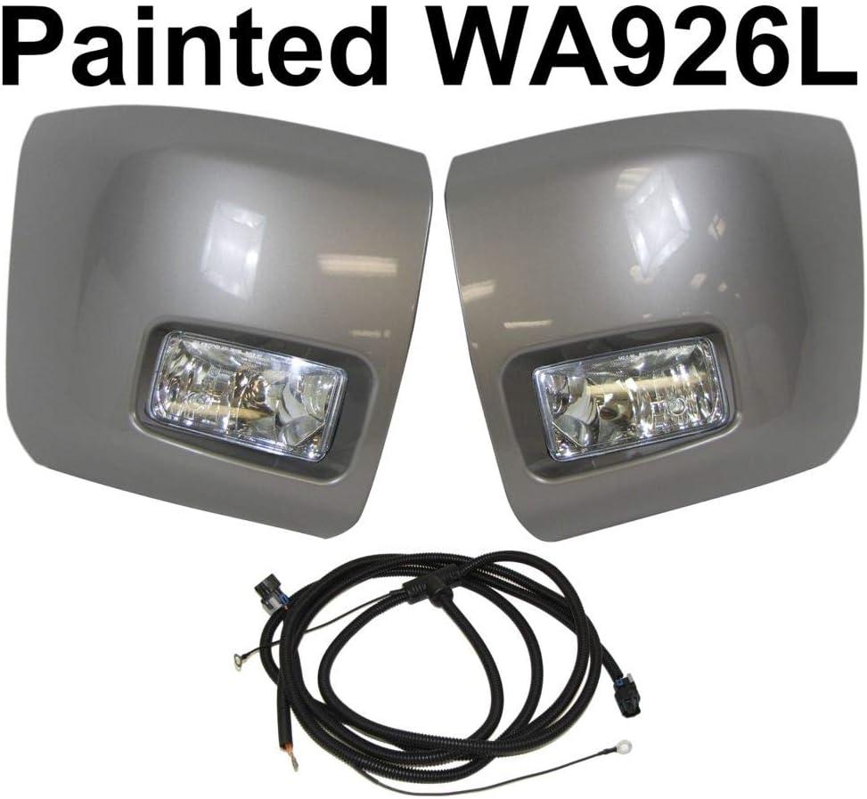 BreaAP Painted Max 47% Denver Mall OFF Front Bumper End Harness Light Compatible Cap Fog