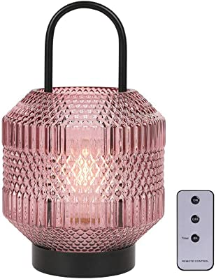 JHY DESIGN lampe de table haute 26.7cm High Lampe à piles sans fil avec télécommande à minuterie 6H lampe de chevet à pile Fête des mères cadeau