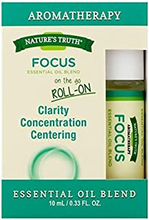 Nature's Truth Essential Oil Roll-On Blend, Focus, 0.34 Fluid Ounce (3 Pack)