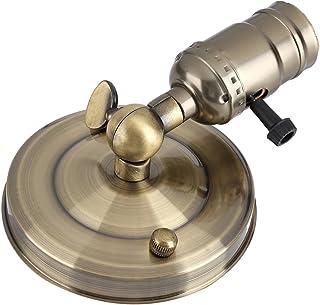 Fdit Lámpara de Pared Soporte de Bombilla de lámpara Soporte de lámpara de Metal Retro E27 Soporte de lámpara de Pared, Soporte de lámpara de luz Vintage, Mini Aplique de(Bronze)
