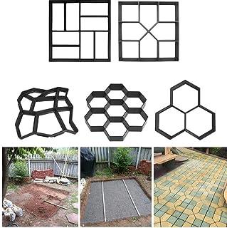 Oulensy 1Pc 7 Panal alveoladas DIY de moldes de plástico Fabricante de Ruta de pavimentación Manual