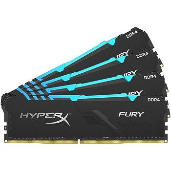 HyperX Fury 32GB 3200MHz DDR4 CL16 DIMM (Kit of 4) 1Rx8 RGB XMP Desktop Memory HX432C16FB3AK4/32