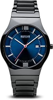 Time 31739-747 Mens Ceramic Collection Watch with Ceramic Band and Scratch Resistant Sapphire Crystal. Designed in Denmark.