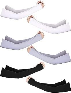 Bememo UV Protection Sleeves Gloves Wrist Length Sun Block Driving Sleeves Gloves Unisex Fingerless Sleeve