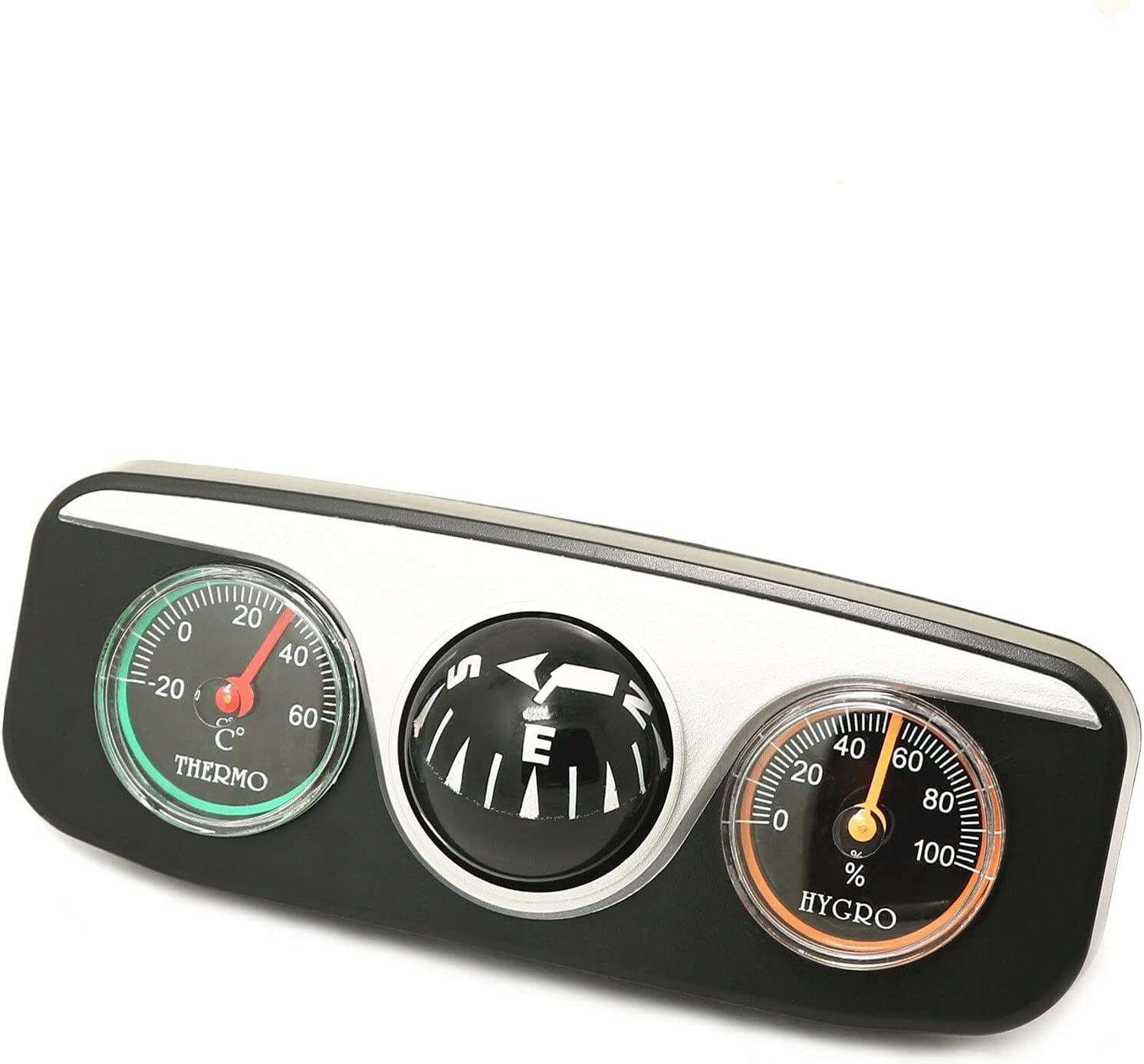 CFDYKRP ABS Car Vehicle Navigation Ball Compass Thermometer Hygr