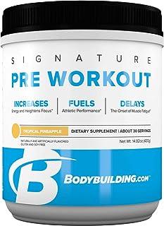 Bodybuilding Signature Pre Workout Powder | CARNOSYN, L-LEUCINE, L-CITRULLINE | Increases Focus, Fuels Performance | Tropi...