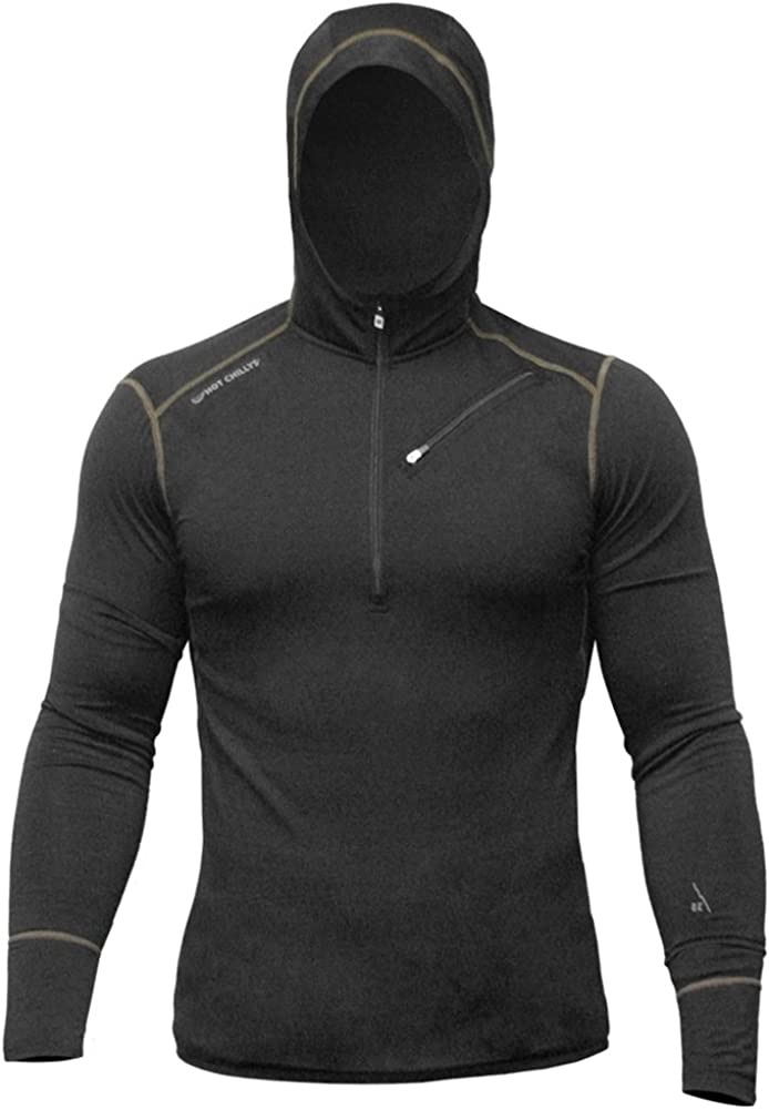 Hot Chillys Men's Free shipping Merino Wool Base Top 67% OFF of fixed price Layer Hooded
