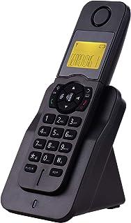 Moniel Telefone sem fio expansível com display LCD ID do chamador 50 Memórias da agenda telefônica Chamadas com viva-voz C...