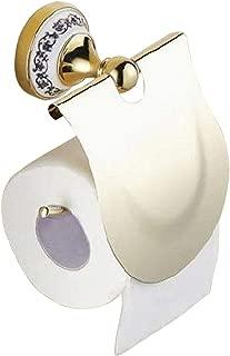 トイレットペーパーホルダー アンティーク調 おしゃれ 美しい ヨーロピアン 欧風 スタイル (金・ゴールド)