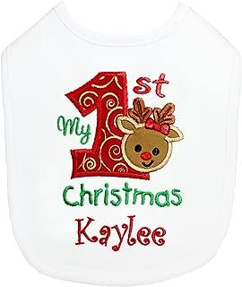 personalised first christmas bib