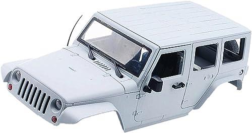 Baoblaze Ersatz   Abdeckung Body Shell Cover for 1 10 Axiales Scx10 Rc Auto - Weiß