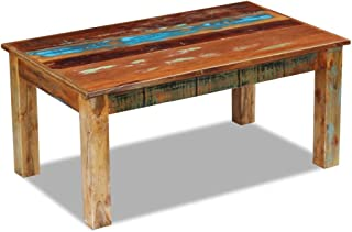 vidaXL Solid Reclaimed Wood Coffee Side Couch Accent Table Handmade Home Decor