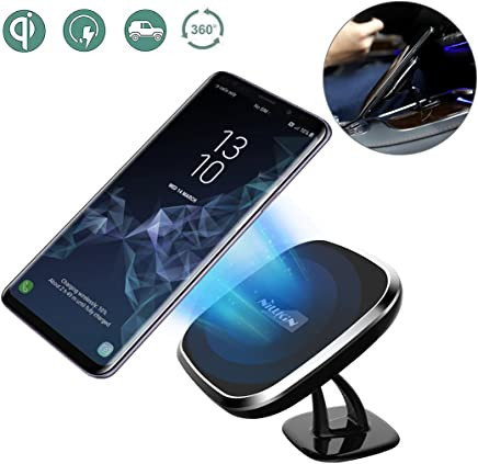 Wireless Charger, Nillkin 2-in-1 Qi Wireless Charging Pad & Magnetic Car Mount Holder for iPhone Xs Max/XR/XS/X/8/8 Plus, Samsung Note 9/8/S9/S8/S8 Plus and More - Model C