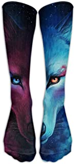 Cool Wolf Unisex Novelty Premium Calf High Athletic Socks Fashional Tube Stockings Size 6-10