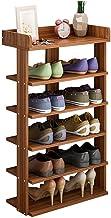 5 طبقات رف أحذية خشبي رفوف تخزين مدخل الأحذية رف المدخل الأثاث 43x24x89 سم الإطار (اللون: بني)