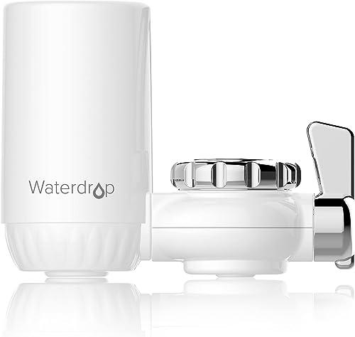 Waterdrop NSF Certifiée Filtre à Eau du Robinet, Système de Filtration ACF, Purificateur de l'eau de Longue durée pou...