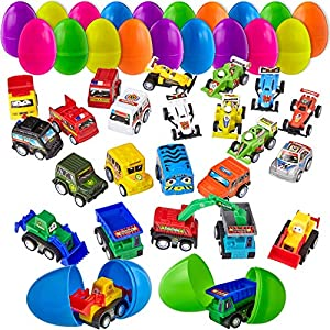 24 PACK FILLED EASTER EGGS - Unleash an eggs-travaganza of fun & egg-citement with this colorful 24 pack of pre-filled Easter eggs to delight children of all ages! Perfect for at-home Easter egg hunts, community day events, classroom holiday parties ...