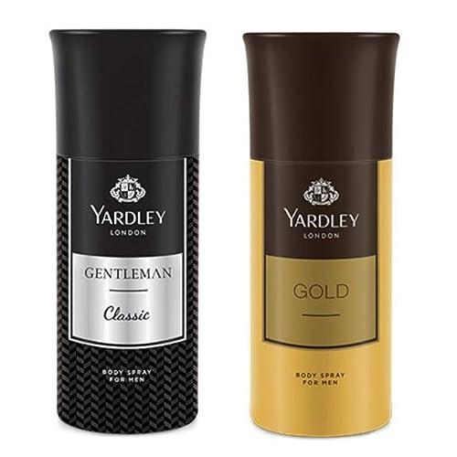 Yardley London Men's Deodorant Gentleman and Gold (150ml) - Combo of 2