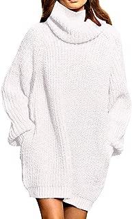 hot pink turtleneck sweater dress
