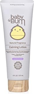 Baby Bum Calming Lotion- Natural Lavender Coconut Scent - Moisturizing Baby Lotion for Sensitive Skin with Shea and Cocoa Butter – Gluten Free - 8 oz