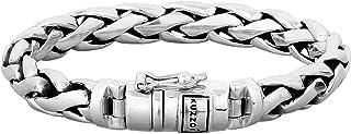 kuzzoi, bracciale da uomo in argento Sterling 925 massiccio, larghezza 10 mm, 335105