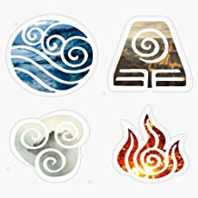 "Avatar The Last Airbender Element Symbols Vinyl Waterproof Sticker Decal Car Laptop Wall Window Bumper Sticker 5"""