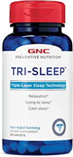 GNC Preventive Nutrition Tri-Sleep, 60 Count, Supports Restful Sleep
