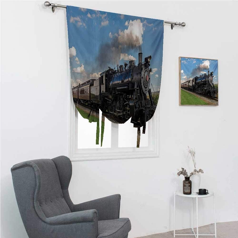 Blackout Curtains for Bedroom Be super welcome Steam Max 80% OFF Engine Window Balloon Shades
