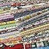 四角形シリーズ カットクロス 生地 ハギレ 福袋 綿 プリント生地 DIY 手作り 花柄 パッチワーク 布地 Liu 20×20cm (25枚)