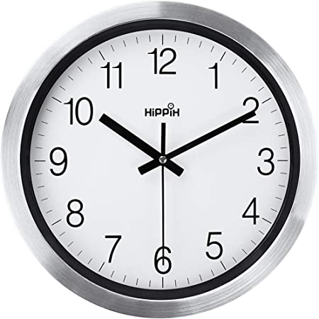 Decorative Wall Clocks Battery Operated Non Ticking 12 Inch Silent for Home