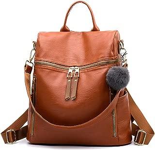 Women Backpack Purse Waterproof Nylon School Shoulder Bag Headphone Plug Travel Daypack