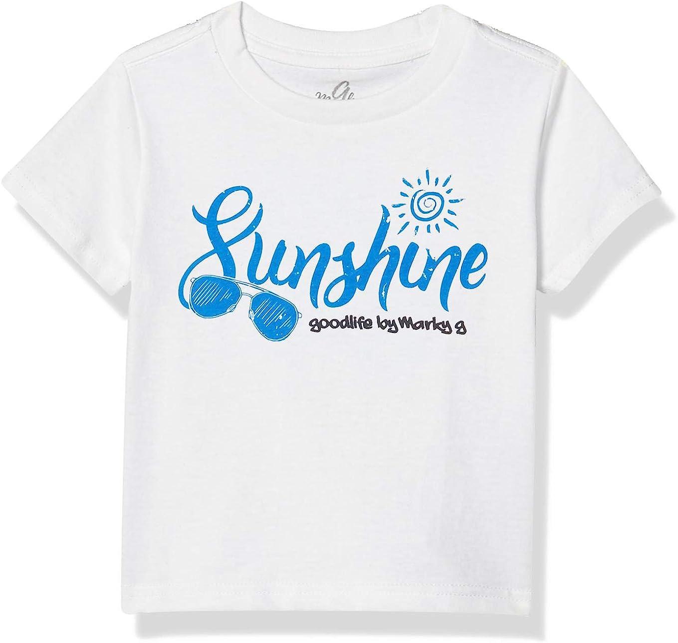 Marky G Apparel Boys' Printed Sunshine Graphic Cotton Jersey T-Shirt