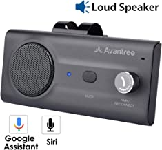 Avantree CK11 Hands Free Bluetooth Car Kits, Quality Loud Speakerphone, Siri Google Assistant Support, Motion AUTO ON, Volume Knob, Wireless in Car Handsfree Speaker Kit with Visor Clip - Titanium