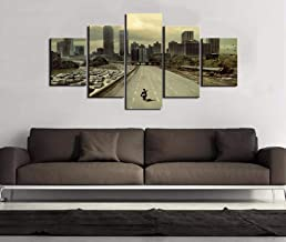 GUJIU HD Print Movie Walking Dead Poster 5 Piece Canvas Painting Wall Art Pictures for Living Room Home Decoration_20CMx40X4/55CM